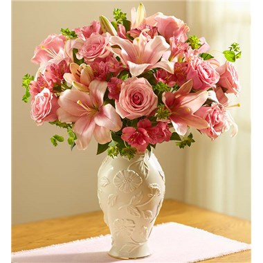 1 800 Flowers Lovely In Lenox Bouquet Roses More