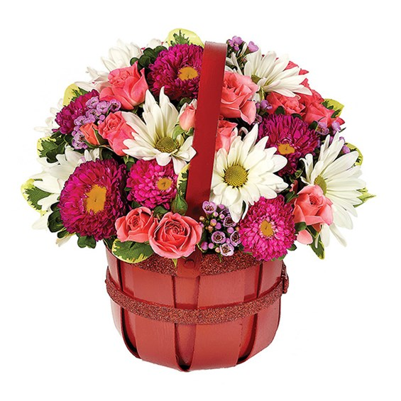 """Bushel Full of Love"" flowers for Valentine's Day (BF306-11KM)"
